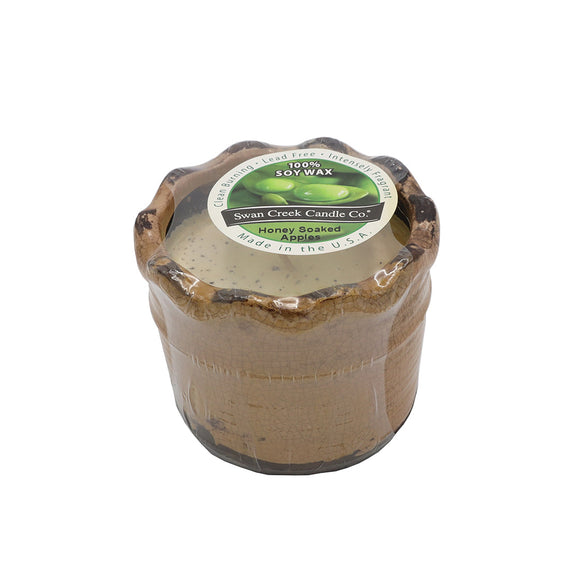 Swan Creek Ruffled Edge Pot Candle -Honey Soaked Apples