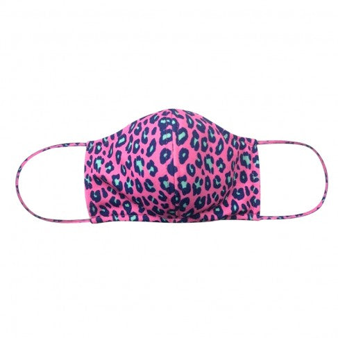 Hot Pink Leopard Adjustable Adult Face Mask