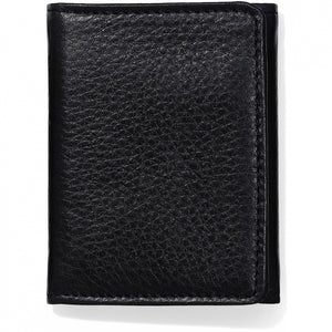 Brighton Jefferson Tri-Fold Wallet - Black