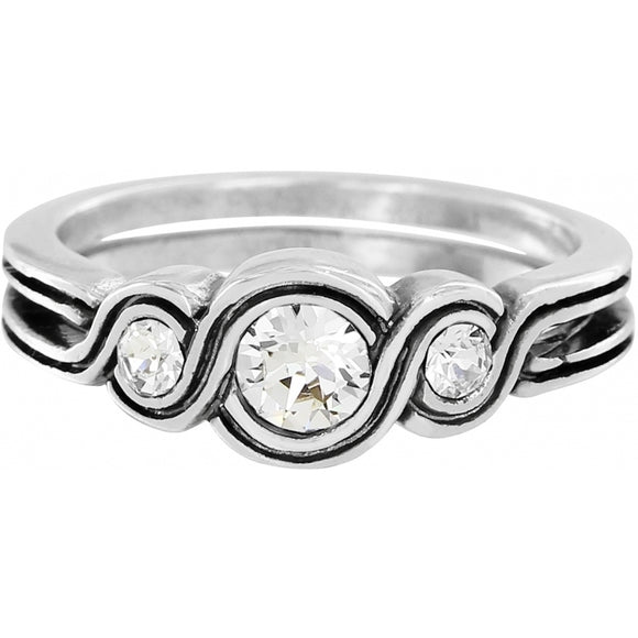 Brighton Infinity Sparkle Ring - Size 6