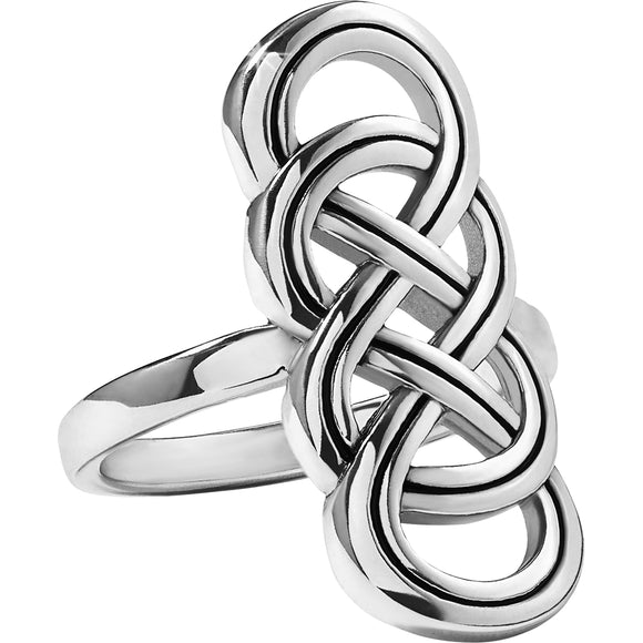 Brighton Interlok Braid Ring - Size 8
