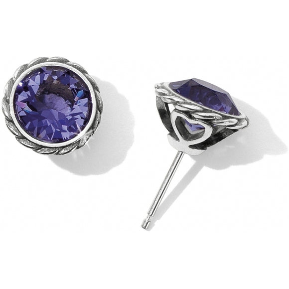 Brighton Tanzanite Iris Stud Earrings