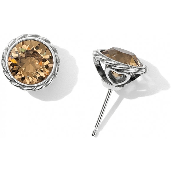 Brighton Topaz Iris Stud Earrings
