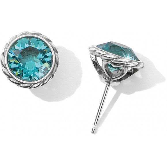 Brighton Light Turquoise  Iris Stud Earrings