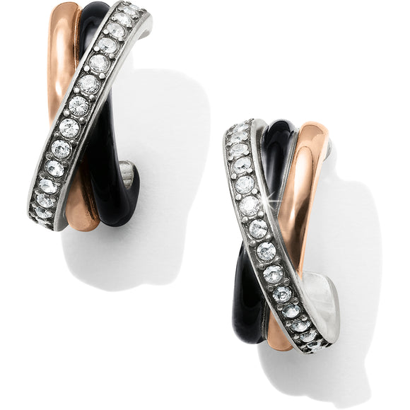 Brighton Neptune's Rings Black Post Clip Earrings