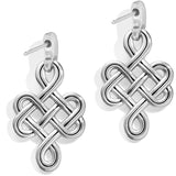 Brighton Interlok Endless Knot Post Drop Earrings Gift Box