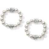 Brighton Meridian Petite Pearl Hoop Drop Earrings