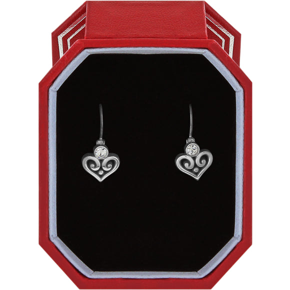 Brighton Alcazar Heart Leverback Earrings Gift Box