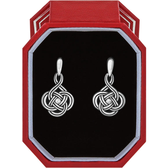 Brighton Interlok Petite Post Drop Earrings Gift Box