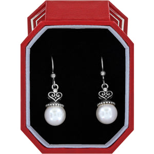 Brighton Alcazar Pearl Drop French Wire Earrings Gift Box