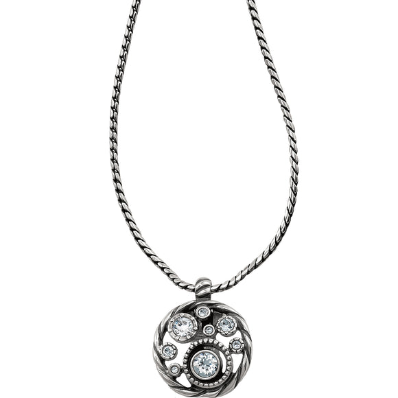 Brighton Halo Badge Clip Necklace