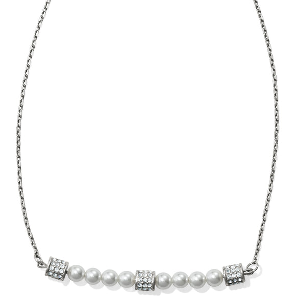 Brighton Meridian Petite Pearl Bar Necklace