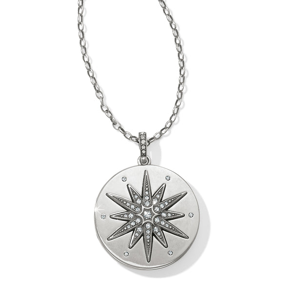 Brighton Contempo Ice Starburst Convertible Locket Necklace