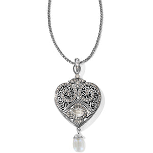 Brighton Mumtaz Pearl Heart Convertible Necklace