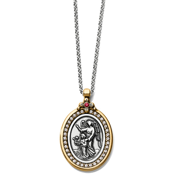 Brighton Guardian Angel Two-Tone Pendant Necklace