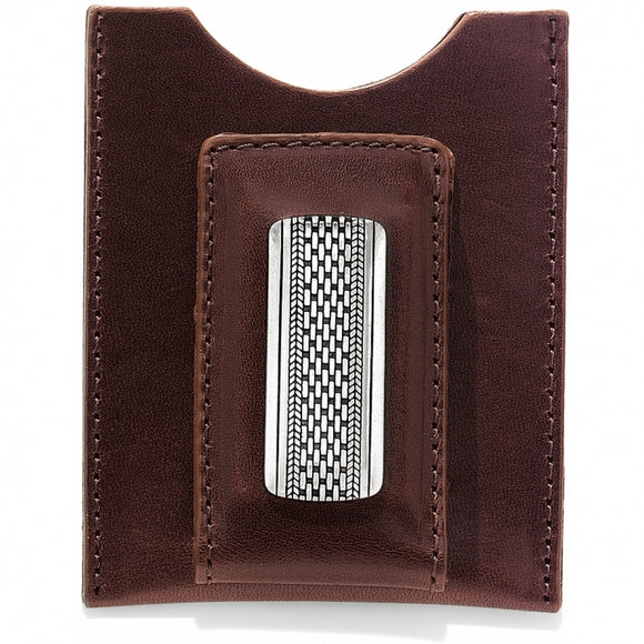 Brighton Salina Money Clip-Brown
