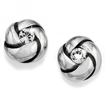 Brighton Love Me Knot Mini Post Earrings Silver