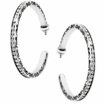 Brighton Secret of Love Hoop Post Earrings