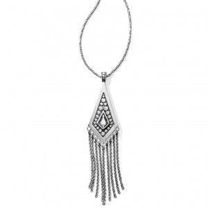 Brighton Pebble Disc Convertible Fringe Necklace