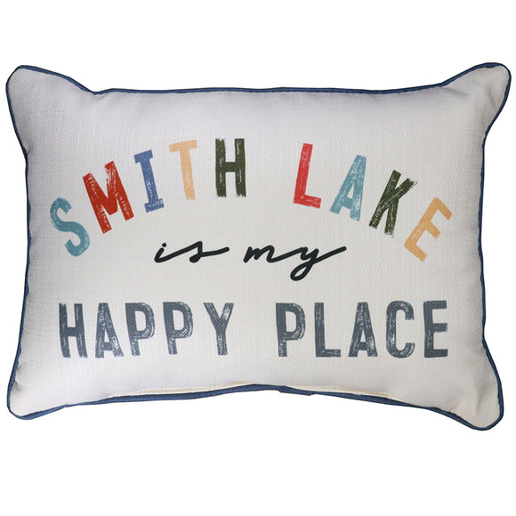 Smith Lake Is My Happy Place Pillow