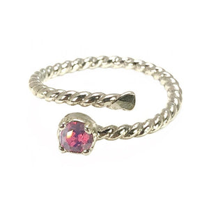 Earth Grace Jan-Garnet Stackable Wrap Ring