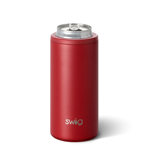 Swig Skinny Can Holder Crimson