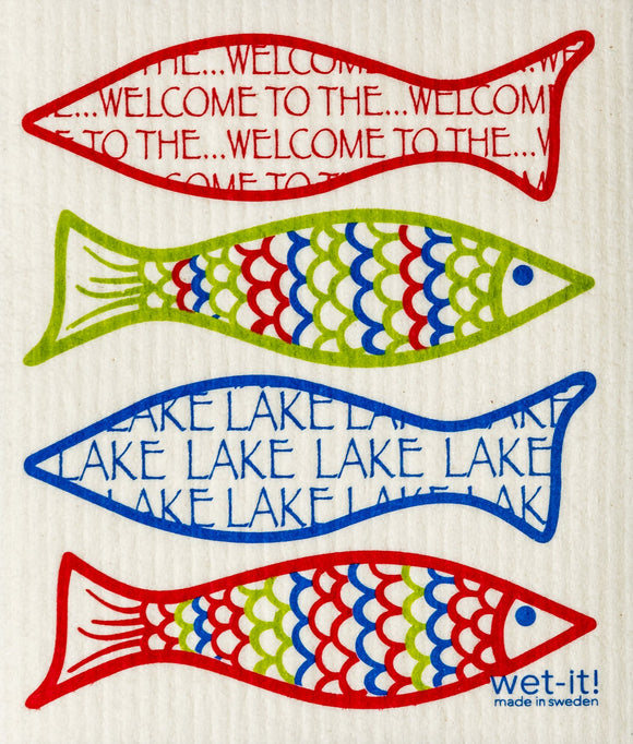 Welcome to the Lake Wet It! Swedish Cloth
