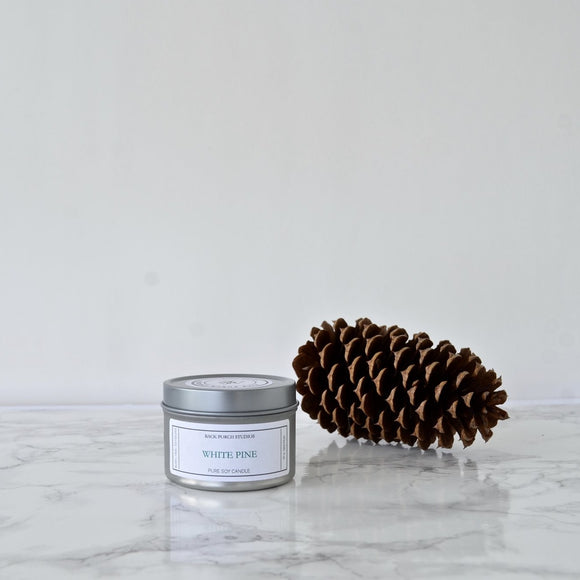 Back Porch Studios White Pine 4oz Tin Candle