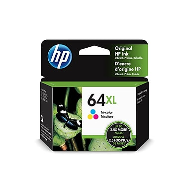 HP 64XL (N9J91AN#140) TRI-COLOR ORIGINAL INK CARTRIDGE