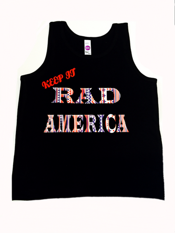 "Tribal print "" Keep It RAD America"" toddler/youth tank"