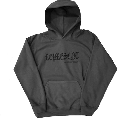 """Represent"" Old English hoodie"