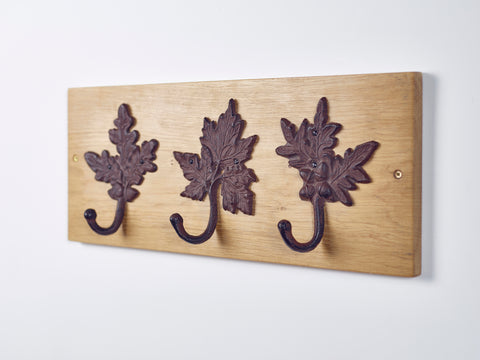 Oak Leaf Coat Hooks