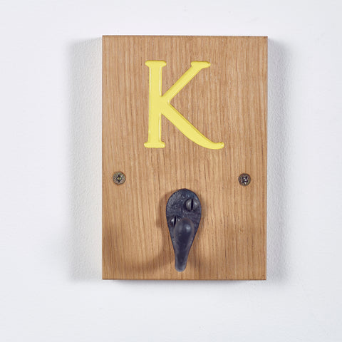 Personalised Oak Initial Hooks - perfect for the whole family!
