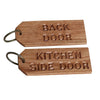 Large Personalised Oak Keyring