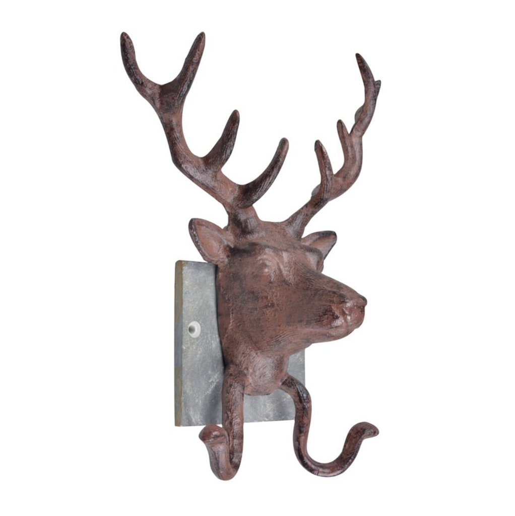 Cast Iron Stag Head Hooks