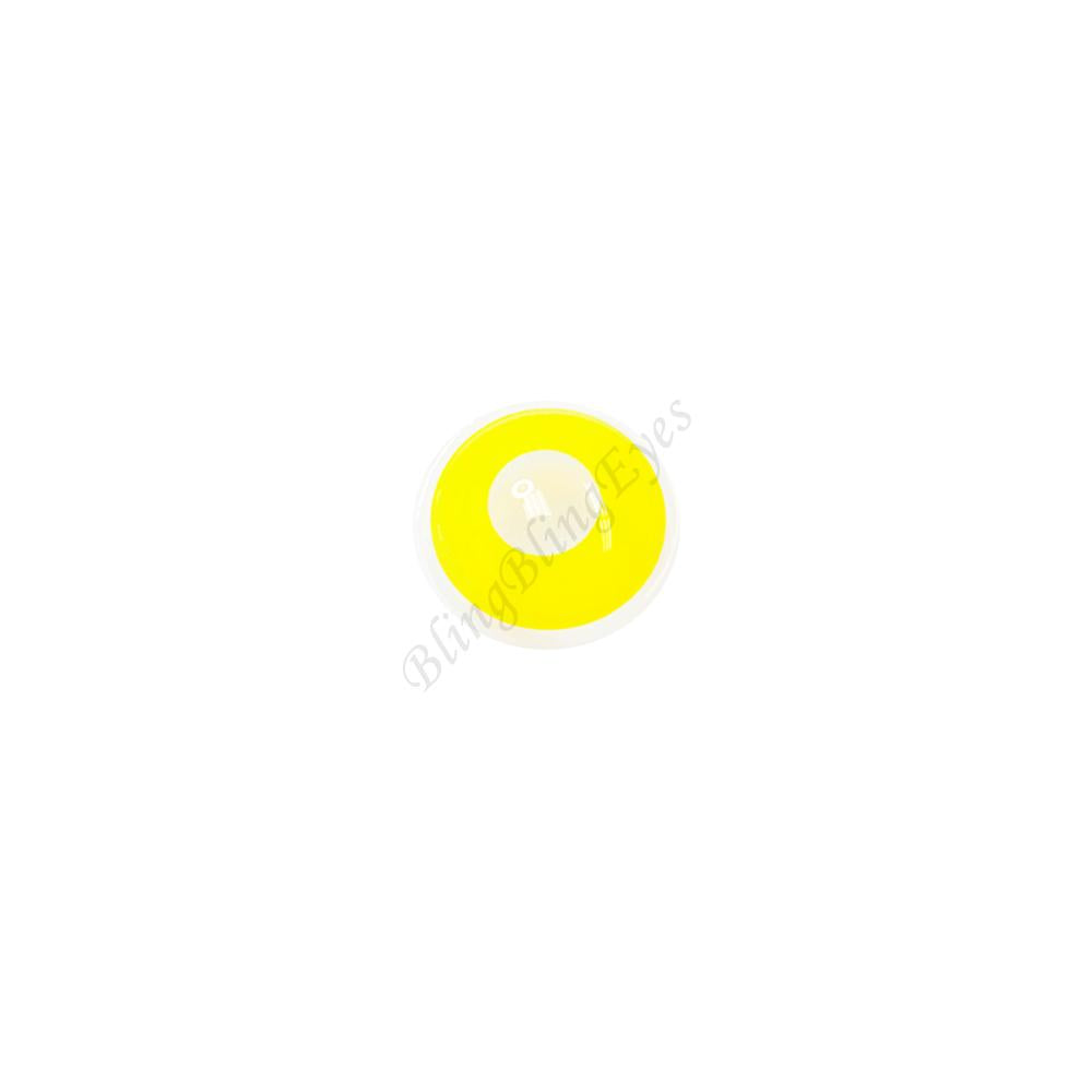 Pure Yellow Block D13-1Y Cosplay  Halloween Colored Contact Lenses