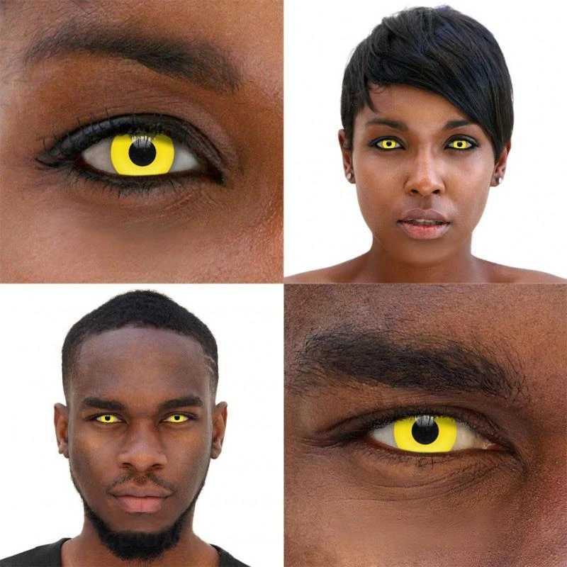 Pure Yellow Block D13-1Y Cosplay Colored Contact Lenses