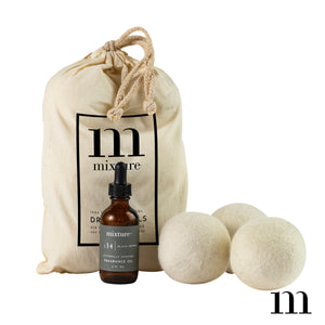 Mixture Wool Dryer Balls (6 piece set with 2oz Black Pepper fragrance oil included)