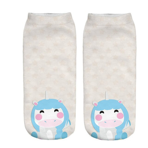 x3 Baby Unicorn Socks