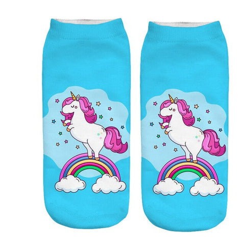 x3 Rainbow Unicorn Socks