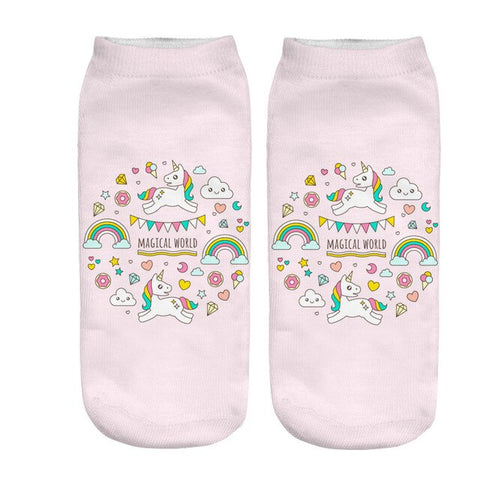x3 Circus Unicorn Socks