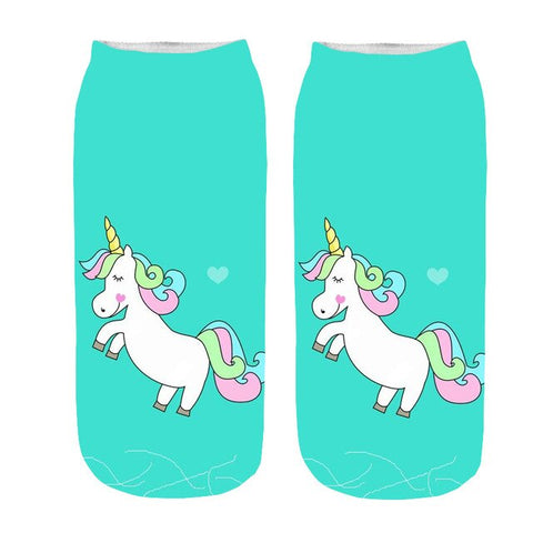 x3 Love Unicorn Socks