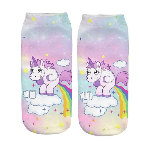 x3 Poop Unicorn Socks
