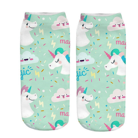 x3 Blue Magic Unicorn Socks