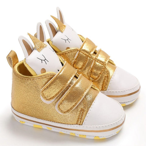 Gold Scratch Uniorn Shoes
