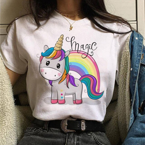 Magic Raimbow Unicorn T Shirt