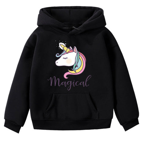 Black Magical Unicorn Hoodie