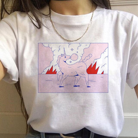Unicorn T Shirt Ladies