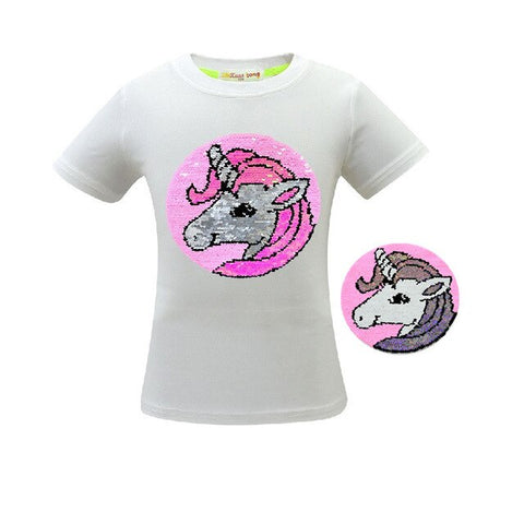 White Unicorn Cute Tee Shirt