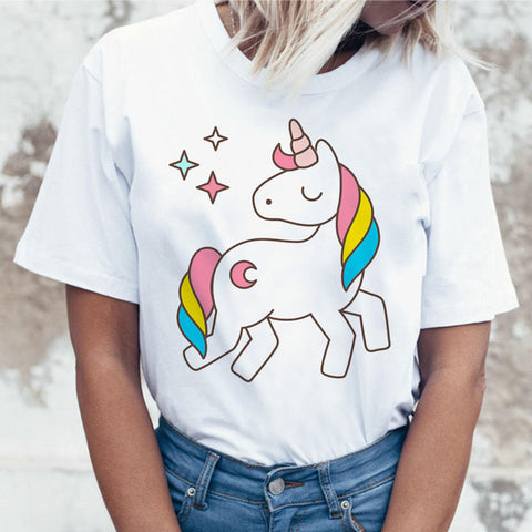 Unicorn T Shirt Print